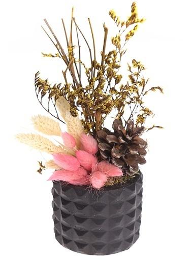 Kibrithane Çiçek Yapay Çiçek Dekoratif Beton Saksı Kuru Çiçek Aranjman Kc00200838 Renkli